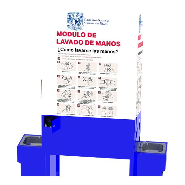 MÓDULO DE 2 ESTACIONES DE LAVADO DE MANOS DE 800L