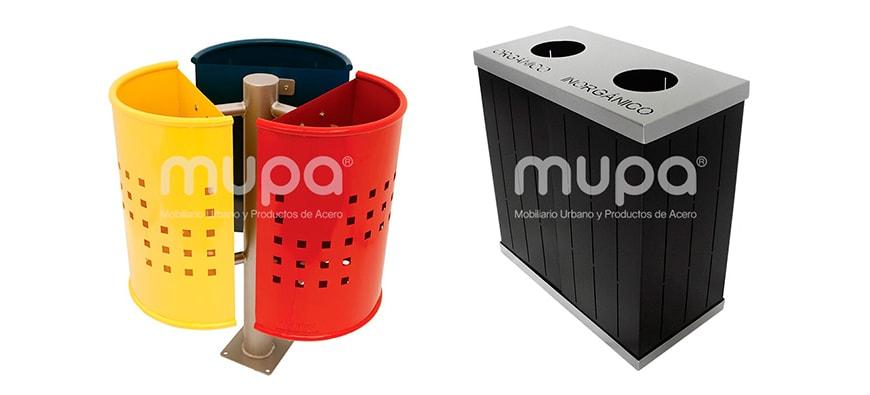 Botes Metálicos para Basura resistentes - Mobiliario Urbano | MUPA ®