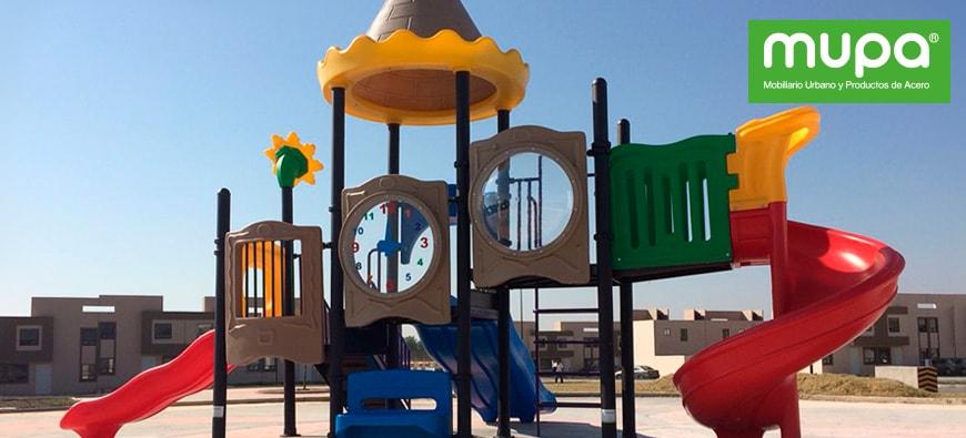 MUPA ® apoya la diversión de los pequeños - Mobiliario Urbano en México