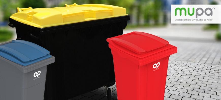 MUPA® estrena Contenedores Plásticos para Basura - Mobiliario Urbano