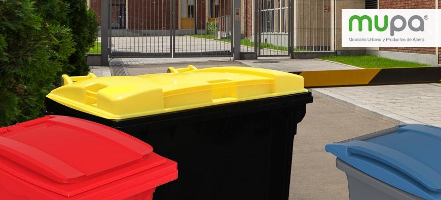 Contenedores plásticos para basura de uso rudo con ruedas