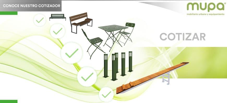 ¿Cómo solicitar cotización de Mobiliario Urbano y Equipamiento MUPA® en el nuevo sitio web?