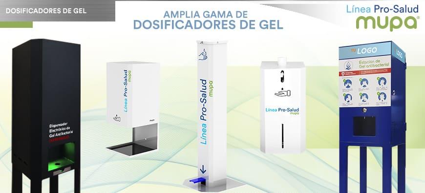 Dosificadores de Gel MUPA® Mobiliario Urbano y Equipamiento