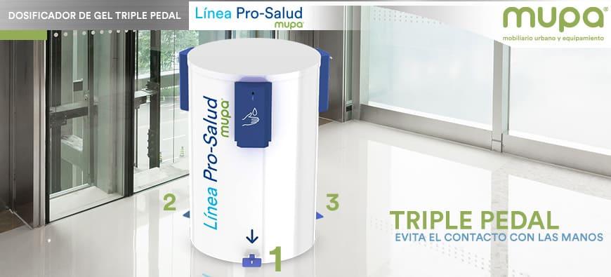 Estación Dosificadora de Gel Antibacterial con 3 Pedales, MUPA®