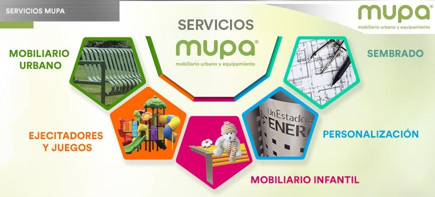 Servicio Integral de MUPA®, Mobiliario Urbano y Equipamiento, para cualquier Proyecto Urbano