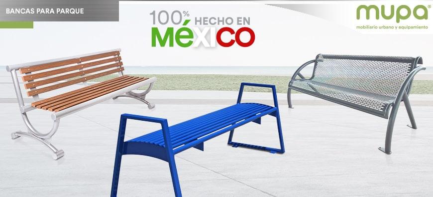 Bancas para Parque 100% hechas en México