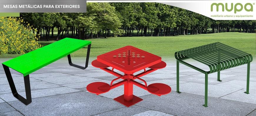 Mesas Metálicas para Parque resistentes al Vandalismo